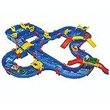 AquaPlay - AmphieWorld - 145x156 cm große Wasserbahn, inklusive 79 Teilen, Spieleset inklusive 2 Boote, Amphibienauto und 3 Spielfiguren, für Kinder ab 3 Jahren