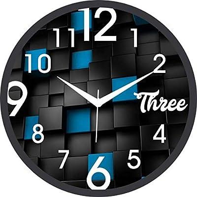 RLK TRADERS Glass Multicolor Analog Wall Clock(RLK-27)