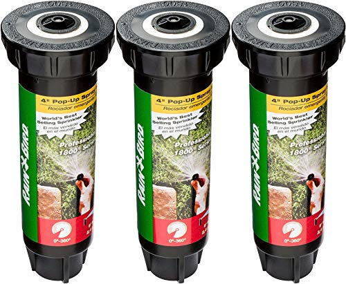 Rain Bird 1804VAN Professional Pop-Up Sprinkler, Adjustable 0° - 360° Pattern, 8' - 15' Spray Distance, 4' Pop-up Height (3 Pack)