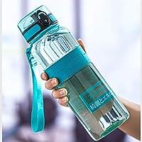 KAISWK 水筒 スポーツウォーターボトル BPAフリー 直飲み 漏れ防止 ハンドル付 水分補給 安全無毒 携帯便利 (0.3L,Green)