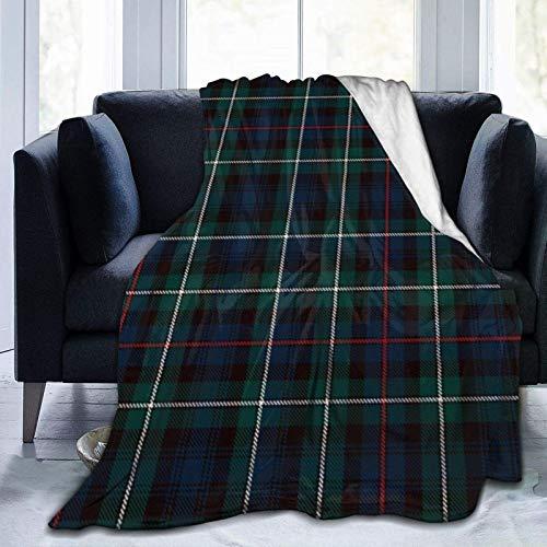 GOSMAO Ultra Soft Micro Fleece Durable Mackenzie Tartan Plaid Outlander Mantas de Tiro Sábana Suave y cálida para Cama Ropa de Cama Sofá Sala de Estar 60X80 Inch