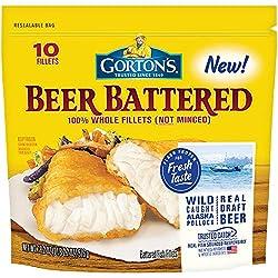 Gorton's, Classic Beer Batter Crispy Fillets, 18.2 oz (Frozen)