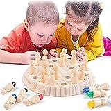 99native@ Jeux de mémoire en Bois pour Enfants et Adultes -2020 Newest Mémoire en Bois d'échecs Match Toy Fun Family Game Table Board Jeux de société de l'éducation préscolaire (A)