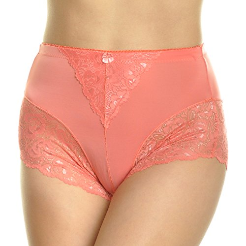 Angelina High Waist Boxer Briefs with Lace Accent Detail (6-Pack), G913_XL