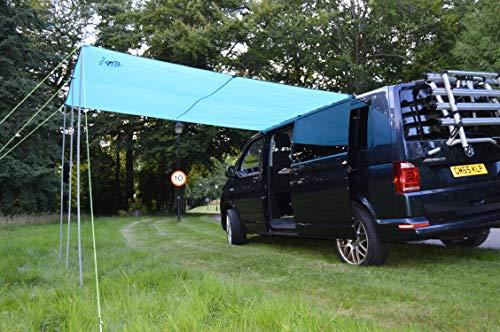 Wild Earth Sun canopy awning for VW Camper Van motorhome 2.4 Metres x 3metres Light Blue