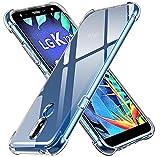 ivoler Funda para LG K40 2019, Carcasa Protectora Antigolpes Transparente con Cojín Esquina Parachoques, Flexible Suave TPU Silicona Caso Delgada Anti-Choques Case Cover