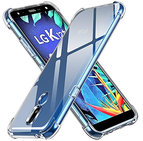 ivoler Klar Silikon Hülle für LG K40 2019 mit Stoßfest Schutzecken, Ultra Dünne Weiche Transparent Schutzhülle Flexible TPU Durchsichtige Handyhülle Kratzfest Hülle Cover