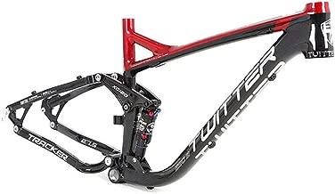 Cuadro de Bicicleta de Carretera Aleación de Aluminio Soft Tail Frame Suspensión Completa Mountain Bike Frame Off-Road (Color : Negro, tamaño : 19Inch)