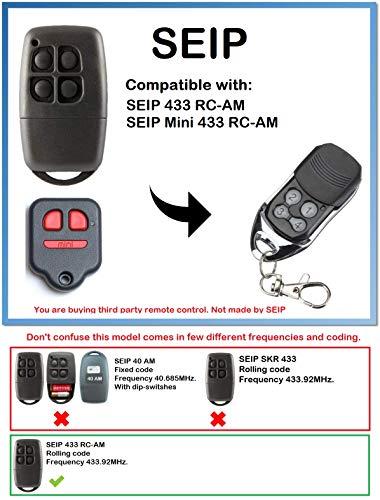 /Émetteur de remplacement compatible 433,92Mhz Rolling code!!! SEIP SKR433-1 Compatible T/él/écommande