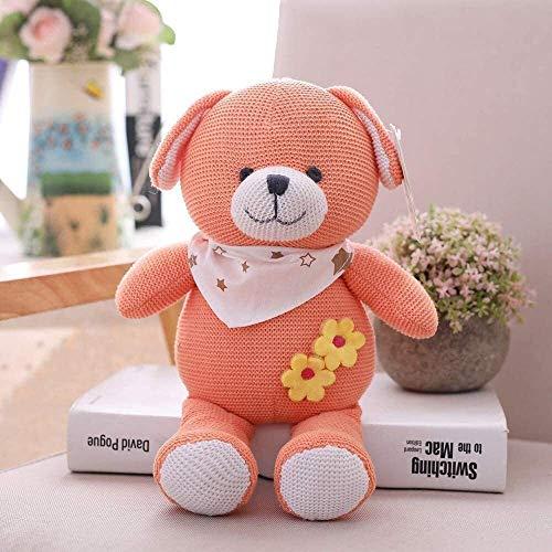 FGBV Baumwolle gestrickte Woll-Tierpuppe Puppe super niedlich Baby-Zimmer Babykomfort-Plüschspielzeug 25 cm. Manmiao