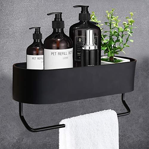 Duschregal Ohne Bohren, kein selbstklebender Nagelraum, Aluminium, keine Beschädigung und Haltbarkeit, mattes Wandfinish, verwendet in Bad und Küche
