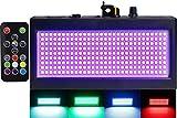 Strobe Lights Mini, Latta Alvor Stage Light for Parties 270 LED DJ Lighting KTV Flashing 7 Colors Strobe Lights Romote control (color light)
