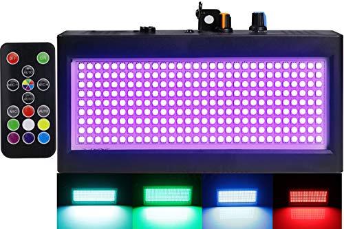 Strobe Lights Mini, Latta Alvor Stage Light for Parties 270 LED DJ Lighting KTV Flashing 7 Colors Strobe Lights Romote…