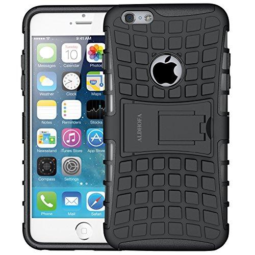 ALDHOFA Funda para iPhone 6, Funda Protectora Resistente a los Golpes, Resistente a Prueba de Golpes, Funda híbrida de Doble Capa con Soporte para iPhone 6/6S, Compatible con iPhone 6 / iPhone 6s