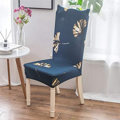 ShiyueNB mooie kat wooncultuur eetkamerstoel afdekking spandex stretch polyester stoelbekleding anti-vuile stoel beschermhoes voor restaurant universal Zilveren sterrenboom wild