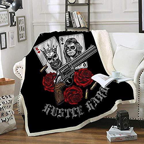 Gettare deken van dik flanel voor bed, bank, auto, kantoor
