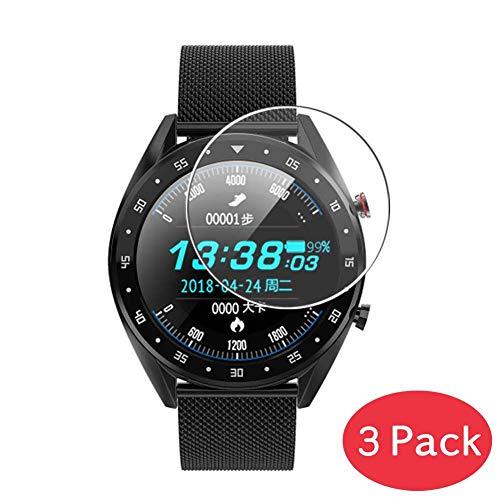 VacFun 3 Piezas Vidrio Templado Protector de Pantalla Compatible con Bakeey M9 Smartwatch Smart Watch, 9H Cristal Screen Protector Película Protectora Reloj Inteligente