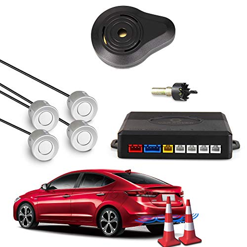 Why Choose White, France : Car Rover Parking Sensor Kit Parking Detector Reversing Radar Buzzer with...
