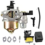 GX120 Gx160 Carburetor Air Filter Housing Assembly Spark Plug Kit for Honda GX120 GX140 GX160 GX168 GX200 5.5hp 6.5hp Small Engine Generator Lawn Mower Motor Replaces 16100-ZH8-W61 by LIYYOO