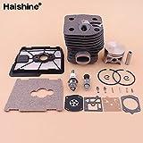Tiempo Beixi 46mm Cilindro Kit de pistón for el Filtro Stihl FS550 FS420 FS420L FS550L Aire Cubierta de la Base del carburador Kit de reparación de Recorte