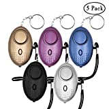 KOSIN Safe Sound Personal Alarm, 5 Pack 140DB Personal Security Alarm Keychain with LED Lights, Emergency Safety Alarm for Women, Men, Children, Elderly