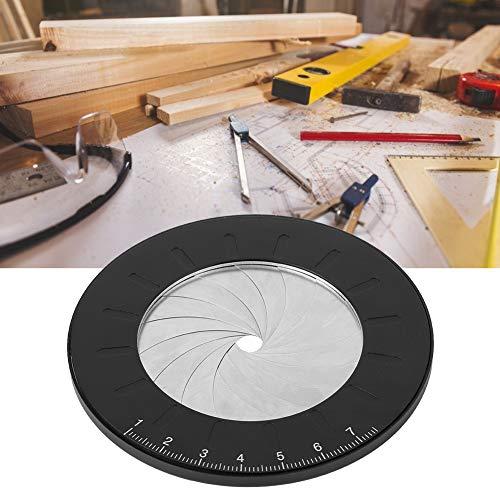 Gind Herramienta de Dibujo Circular, Regla de Plantilla Circular de Acero Inoxidable, Regla Redonda, para Artistas entusiastas de la carpintería