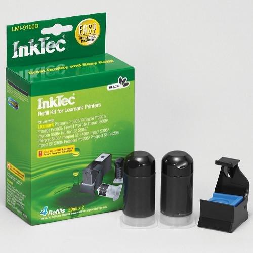 Inktec Refillset für Lexmark 100 Druckerpatronen