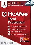 McAfee Total Protection 2020 | 1 Geräte | 1 Jahr | Antivirus Software, Virenschutz-Programm,...