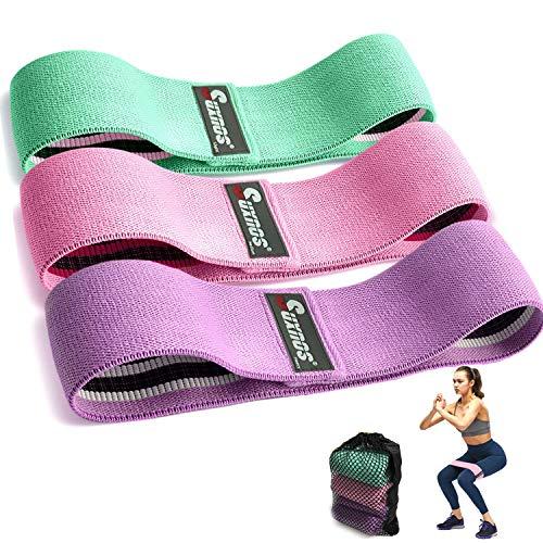 PANENDIANO Elastici Fitness Bande di Resistenza 3 Pezzi Cinturino per Yoga dell\'anca Fitness Stretch Antiscivolo Terapia Fisica Elastica Mini Attrezzature per l\'allenamento Squat Deadlifts