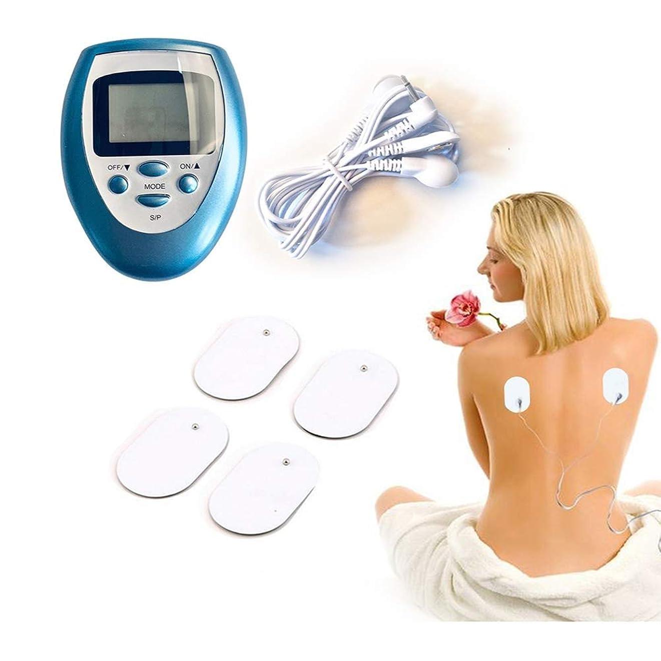 前者小道かどうかマッサージステッカー 疼痛緩和パルスマッサージEMS筋肉刺激のための4本の電極パッドを持つ10台のマシンユニット10台の電気刺激装置