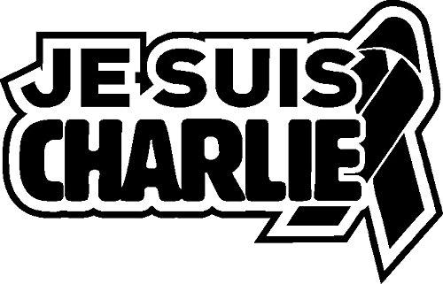1 x 2 Plott Aufkleber Je Suis Charlie Schleife Ehre Freiheit Gedenken Gedenktag