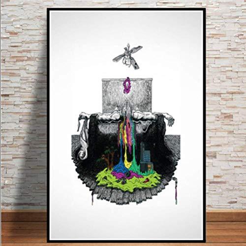 baiyinlongshop Pintura De La Lona Twenty One Pilots Rock Music Band Stars Poster Wall Art Modern Painting Wall Pictures para La Sala De Estar Decoración del Hogar 40x60cm Sin Marco