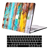 Compatible with MacBook Air 13 inch Case A2337 M1 A2179 A1932 Slim DTangLsm Plastic Hard Shell Case&Keyboard Cover Laptop Protective Cover for 13'' MacBook Air w/Touch ID 2020-2018 Release, Woodgrain
