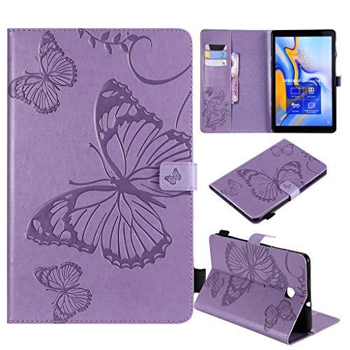 Careynoce Galaxy Tab A 8.0 Tablet Case, Vlinder zon bloem meisjes katten bomen reliëf patroon PU leer magnetische boek Flip portemonnee Tablet Case voor Samsung Galaxy Tab Een SM-T387 8.0