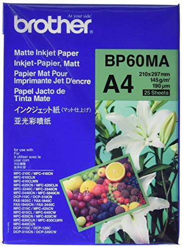 Brother BP60MA Inkjetpapier A4 matt Paket mit 25 Blatt 145 g/m²