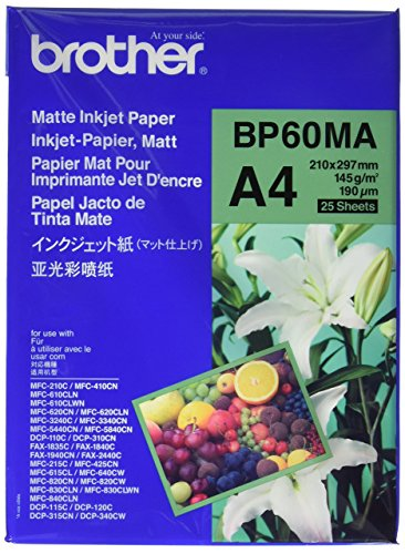 Brother BP60MA Inkjetpapier A4 matt Paket mit 25 Blatt 145 g/m²