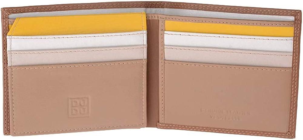 Dudu portafoglio piccolo da uomo multicolore in pelle porta carte di credito 8031847157314