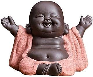 Ceramic Little Cute Buddha Statue Monk Figurine Creative Baby Crafts Dolls Ornaments Gift Chinese Delicate Ceramic Arts an...