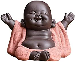 KINGZHUO Ceramic Little Cute Buddha Statue Monk Figurine Creative Baby Crafts Dolls Ornaments Gift Chinese Delicate Cerami...