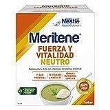 Meritene® FUERZA Y VITALIDAD - Suplementa tu nutrición y refuerza tu sistema inmune con vitaminas, minerales y proteínas - SABOR NEUTRO - Suplemento Alimenticio Estuche (7x50g)