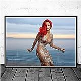fdgdfgd Pop Star Chanteur Superstar Hip hop Art américain Peinture Affiches et Impressions Salon Mural décoration de la Maison 70x105 cm
