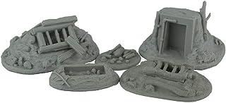 War World Gaming Jungle Warfare - Posiciones Defensivas Ocultas - Escala 28mm Heroica Pacífico Wargaming Modelismo Contienda Militar Diorama Maqueta Wargame Miniaturas