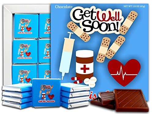 GET WELL SOON Chocolate Gift Set, 5x5in, 1 box (BluePrime 0639)