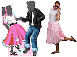 6 ft. 50s Fifties Dancing Couple Standee Standup Photo Booth Prop Background Backdrop Party Decoration Decor Scene Setter Cardboard Cutout