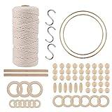 3mm x 100M cuerda de macramé de algodón natural, proveedor de kit de macramé...