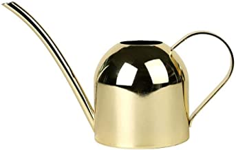 Asdfnfa Gardening Tools Watering Cans Gold-Plated Surface Stainless Steel Long Mouth Watering Pot Green Plant Spray Bottle Golden Watering Kettle Small Watering 500ML Sprayer