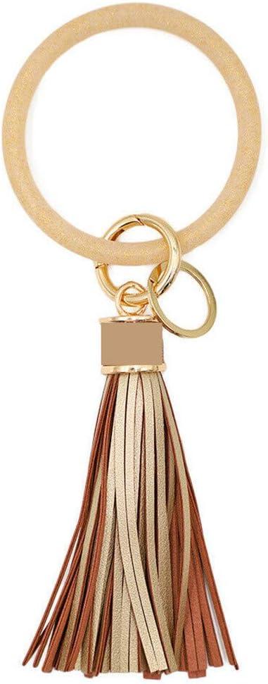 Womens Jewelry Clearance !!! Keychain Bracelet Keyring Large Wrist Silicone Tassel Bracelet Key Holder, Unique Gifts for Women Men Teen Girls