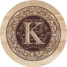 Thirstystone Monogram K Sandstone Coaster Set Of 4
