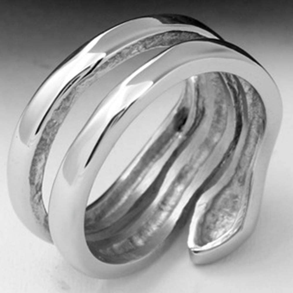 Jude Jewelers Stainless Steel Snake Style Statement Promise Cocktail Party Ring