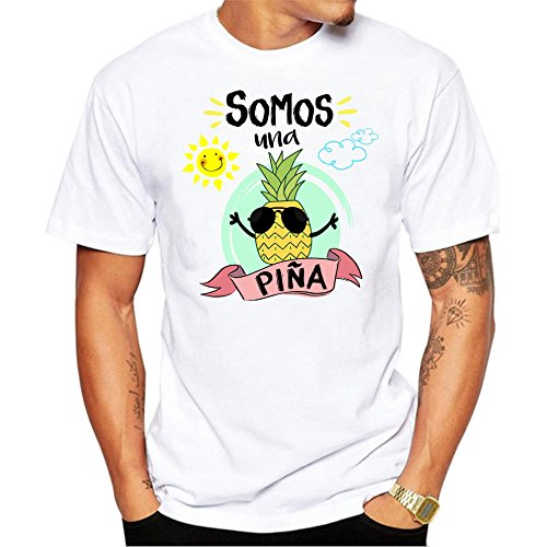 Camiseta Hombre Somos una Piña Camiseta Divertida de Grupos de Despedida, Bodas, Fiestas, Feria (XL)